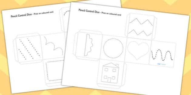 Pencil Control Practice Dice Activity - pencil control, practice, dice, activity