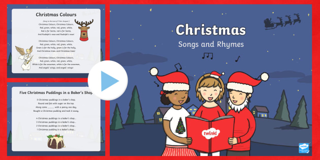Christmas Songs and Rhymes Lyrics PowerPoint