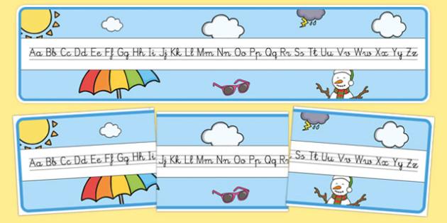 Recta alfabética de exposición - El tiempo y las estaciones del año