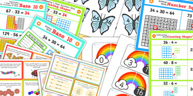 Addition and Subtraction Display Pack KS1 Year 2 - addition, subtraction