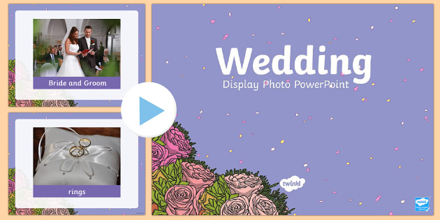 Wedding Display Photos PowerPoint - powerpoint, power point, interactive, wedding photo powerpoint, wedding powerpoint, wedding presentation, wedding day, powerpoint presentation, presentation, slide show, slides, discussion aid, discussion points