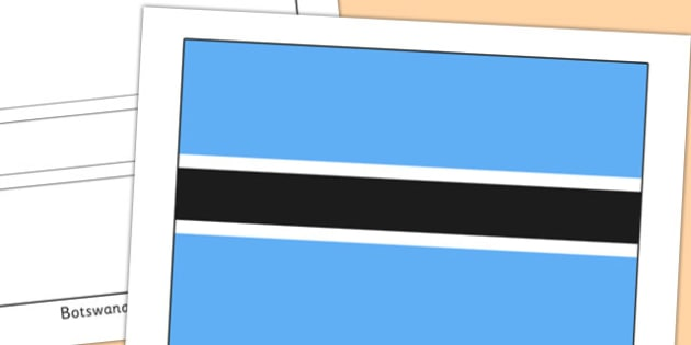 Botswana Flag Display Poster - countries, geography, flags