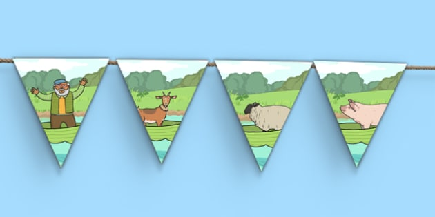 A Special Outing Bunting - a special outing, mr gumpy's outing, bunting, display bunting, display