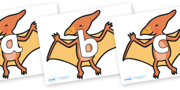 Phoneme Set on Pterodactyl-Dinosaurs - Phoneme set, phonemes, phoneme, Letters and Sounds, DfES, display, Phase 1, Phase 2, Phase 3, Phase 5, Foundation, Literacy