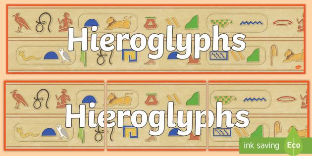 Hieroglyphs Display Banner - ancient egypt, egyptians, header