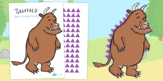 The Gruffalo's Spikes Counting Activity - australia, gruffalo
