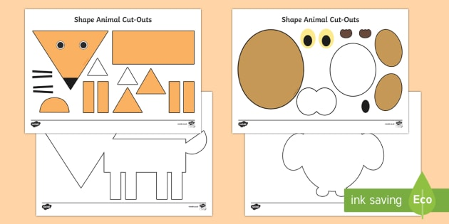 2D Animals Activity Sheets