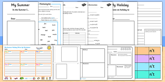 KS2 Summer Holiday Homework Pack - summer holidays, holiday