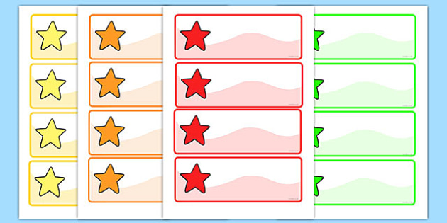 Editable Multicoloured Stars Labels, Peg, Name Labels - Editable Label Templates, star, stars, Resource Labels, Name Labels, Editable Labels, Drawer Labels, Coat Peg Labels, Peg Label, KS1 Labels, Foundation Labels, Foundation Stage Labels, Teaching