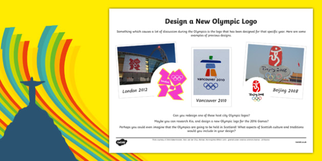 The Olympics - Design a Logo Activity Sheet-Scottish, worksheet
