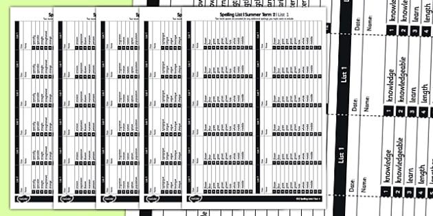 Year 4 Spelling Lists - spelling, list, year 4, spell, lists