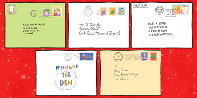 Large A2 Envelopes to Support Teaching on The Jolly Christmas Postman - envelopes, a2