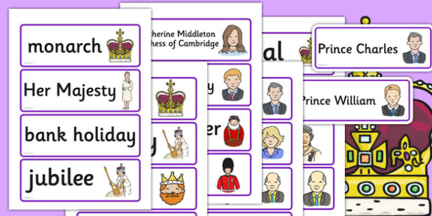 Royal Family Topic Cards - royal family, topic cards, cards, flashcards, queen, prince, Queen Elizaeth, Prince Philip, Prince Charles, Duke of Edinburgh. Prince William, Kate Middleton, Prince Harry, guard, crown