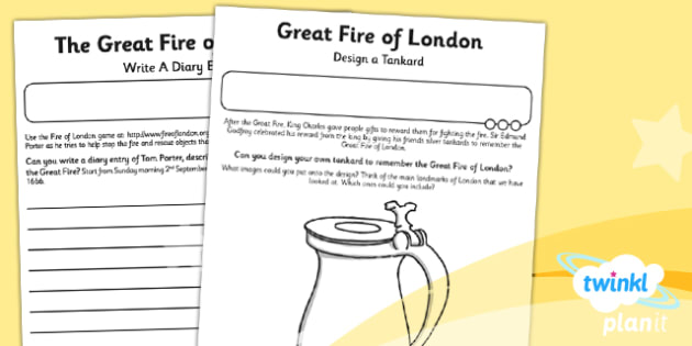 History: The Great Fire of London KS1 Home Learning Tasks