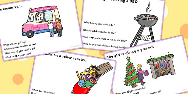 Inference Picture And Question Cards - inference, SEN, games
