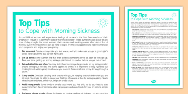 Top Tips to Cope with Morning Sickness - experiment, early years, understanding the world