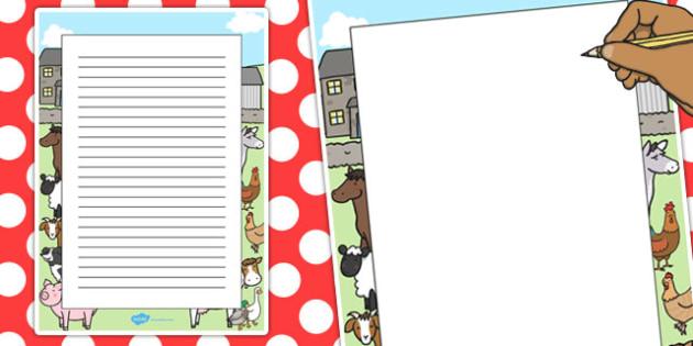 Farm Decorative Page Border - farm, page border, decorative