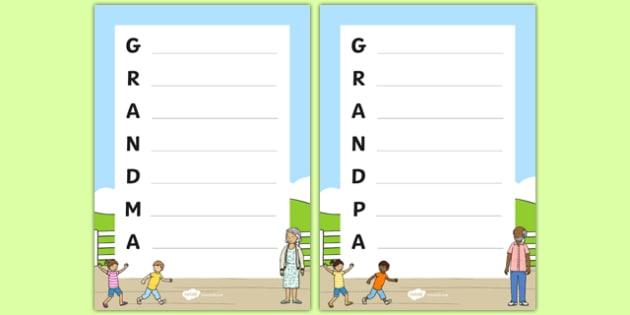 Grandparent's Day Acrostic Poem