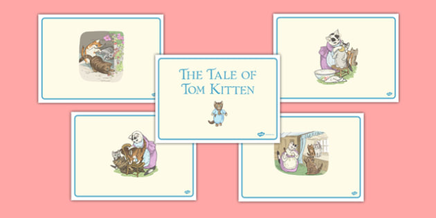 Beatrix Potter - The Story of Tom Kitten Story Sequencing - beatrix potter, tom kitten