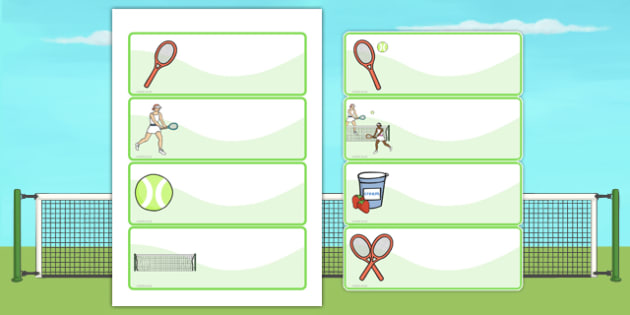 Wimbledon Themed Drawer And Peg Name Labels - signs, name tags