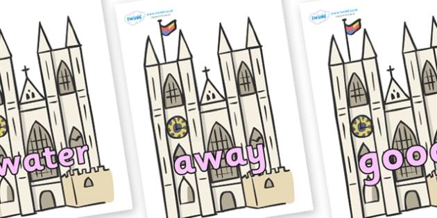 Next 200 Common Words on Churches - Next 200 Common Words on  - DfES Letters and Sounds, Letters and Sounds, Letters and sounds words, Common words, 200 common words
