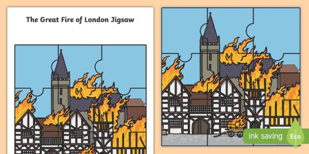 The Great Fire of London Scene Jigsaw Activity