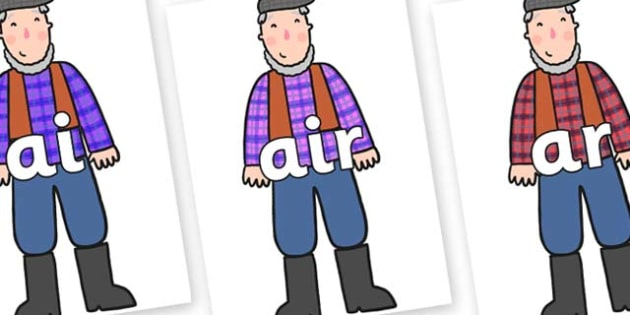 Phase 3 Phonemes on Farmer to Support Teaching on What the Ladybird Heard - Phonemes, phoneme, Phase 3, Phase three, Foundation, Literacy, Letters and Sounds, DfES, display