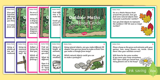 Outdoor Maths Challenge Cards