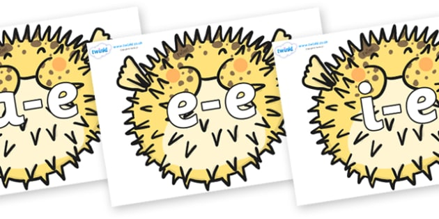 Modifying E Letters on Pufferfish - Modifying E, letters, modify, Phase 5, Phase five, alternative spellings for phonemes, DfES letters and Sounds