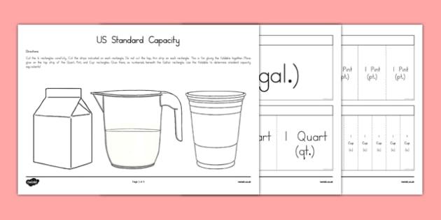 USA Standard Capacity Foldable - Common Core, Testing, Strategy, usa, united, states, america