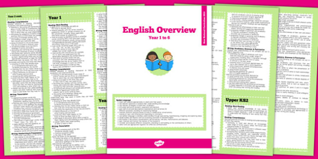 2014 Curriculum Overview Booklet English - english, curriculum