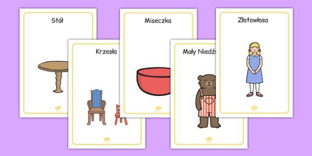 Plakaty Złotowłosa i trzy niedźwiadki po polsku - lektura