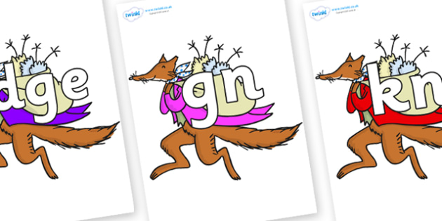 Silent Letters on Mr Fox to Support Teaching on Fantastic Mr Fox - Silent Letters, silent letter, letter blend, consonant, consonants, digraph, trigraph, A-Z letters, literacy, alphabet, letters, alternative sounds