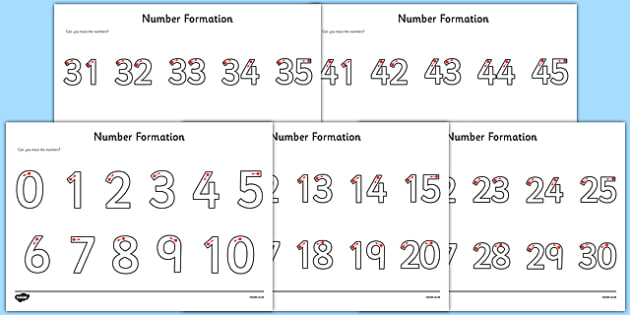 Number Formation Activity Sheets Pack - number formation, activity sheet, activity, number, formation, pack, worksheet, overwriting