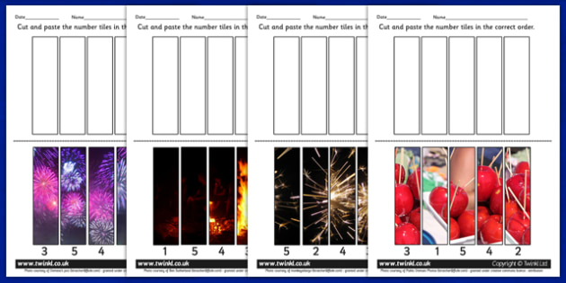 Bonfire Night Photo Sequencing Puzzles - games, puzzle, fireworks