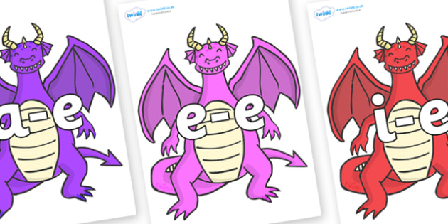 Modifying E Letters on Dragons (2) - Modifying E, letters, modify, Phase 5, Phase five, alternative spellings for phonemes, DfES letters and Sounds
