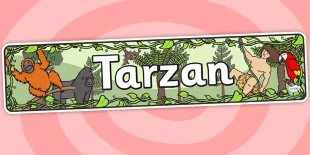 Tarzan Display Banner - tarzan, tarzan themed, tarzan display banner, themed display banner, tarzan themed display banner, jungle theme, jungle banner