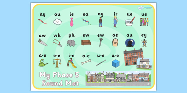 Houses and Homes Phase 5 Sound Mat - house, home, phase five