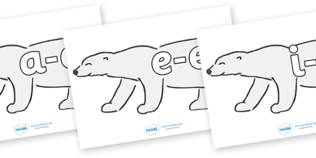 Modifying E Letters on Polar Bears - Modifying E, letters, modify, Phase 5, Phase five, alternative spellings for phonemes, DfES letters and Sounds