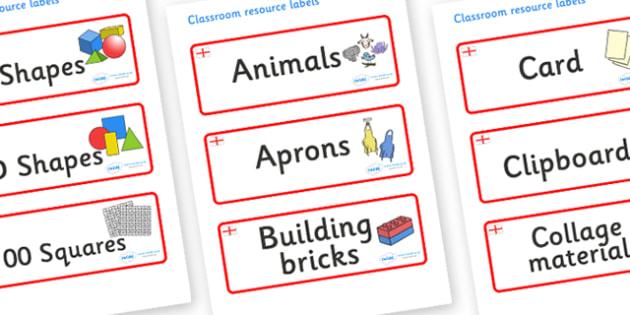 England Themed Editable Classroom Resource Labels - Themed Label template, Resource Label, Name Labels, Editable Labels, Drawer Labels, KS1 Labels, Foundation Labels, Foundation Stage Labels, Teaching Labels, Resource Labels, Tray Labels, Printable l
