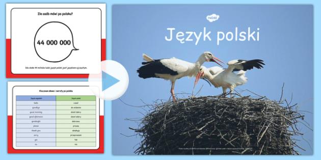 Prezentacja PowerPoint o języku polskim po polsku