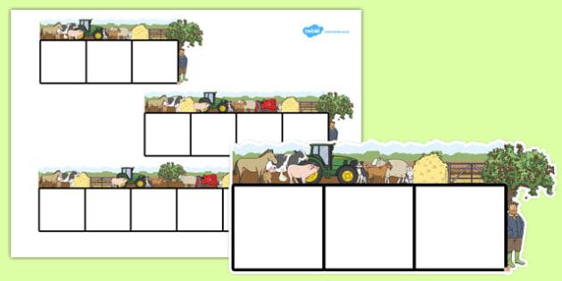 Farm Themed Phoneme Frames - farm, phoneme frames, letters, words, sounds