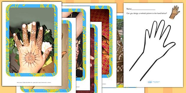 Mehndi Patterns EYFS Resource Pack - mehndi, patterns, eyfs