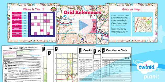 Geography: Marvellous Maps: Grid References Year 5 Lesson Pack 4