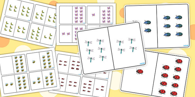 Minibeast Themed Counting Number Bonds to 10 Pack - number, bonds