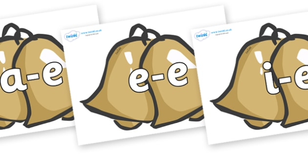 Modifying E Letters on Bells - Modifying E, letters, modify, Phase 5, Phase five, alternative spellings for phonemes, DfES letters and Sounds