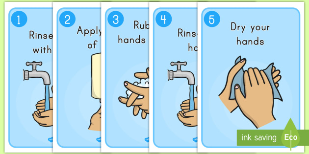 How to Wash Your Hands Display Posters - posters, display posters, sanitize, washing hands, keeping clean, good hygiene