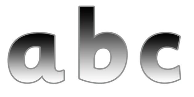 Display Lettering & Symbols (Metallic) - Display lettering, display letters, alphabet display, letters to cut out, letters for displays, coloured letters, coloured display, coloured alphabet