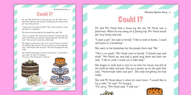 u Phoneme Spotter Story - Phase 5, alternative graphemes, phoneme, spotter, story, u
