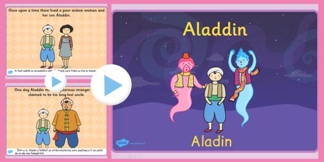 Aladdin Story PowerPoint EAL Romanian Translation - romanian, eal